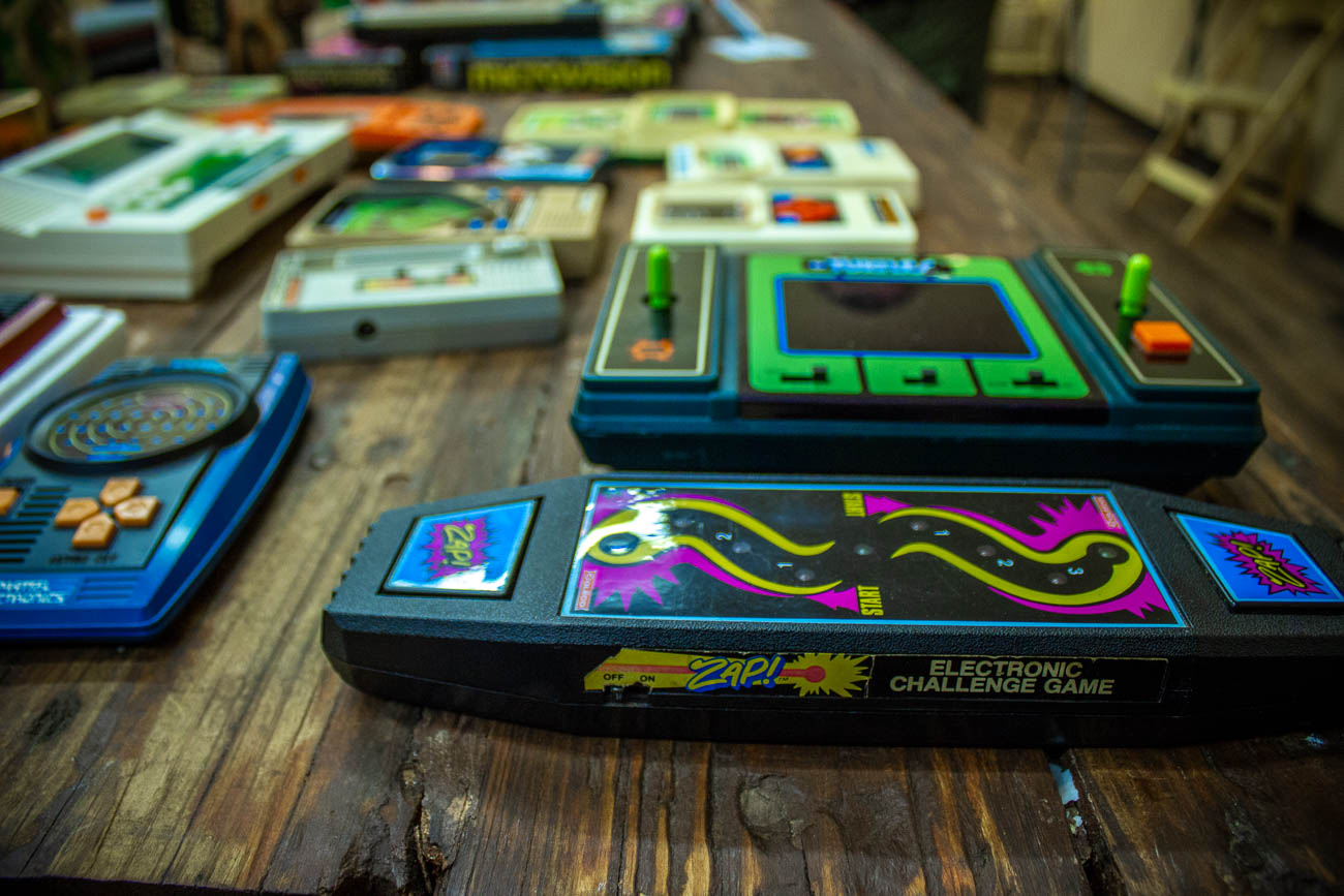 The Museum of Handheld Games section had some interesting and rare systems on display and ready to play. / Image: Katie Robinson, Cincinnati Refined // Published: 5.19.19