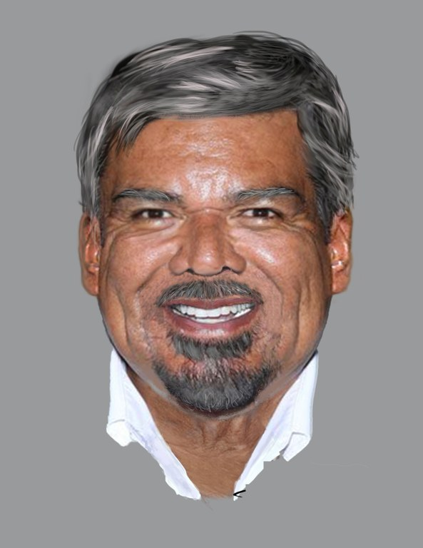 Image of Juan Dios Garza, age progressed to 64 years old. (FBI)
