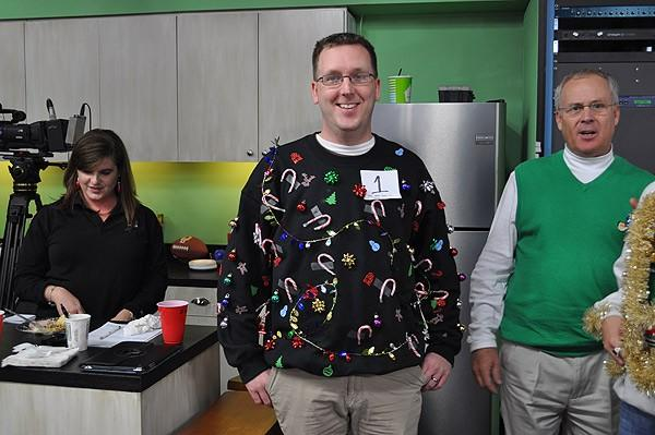 Tacky sweater contestant #1 - Mark Hendron