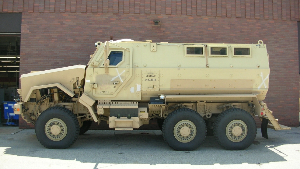 A Mine-Resistant Ambush Protected vehicle acquired by the Brown County Sheriff's Department from the federal government. (Photo courtesy of the Brown County Sheriff's Department)