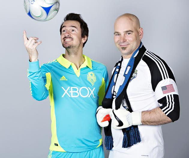 "Former Sounder FC players, Roger Levesque and Marcus Hahnemann were among the celebrities like Macklemore, Seahawk players to even our Seattle Mayor who were excited to call it quits for a Seattle Goodwill's BreakUp4Good campaign. More than 60 famous local individuals and organizations ""broke up"" with a beloved outfit and publicly donating it to the cause. (Photo Credit: Seattle Goodwill)"