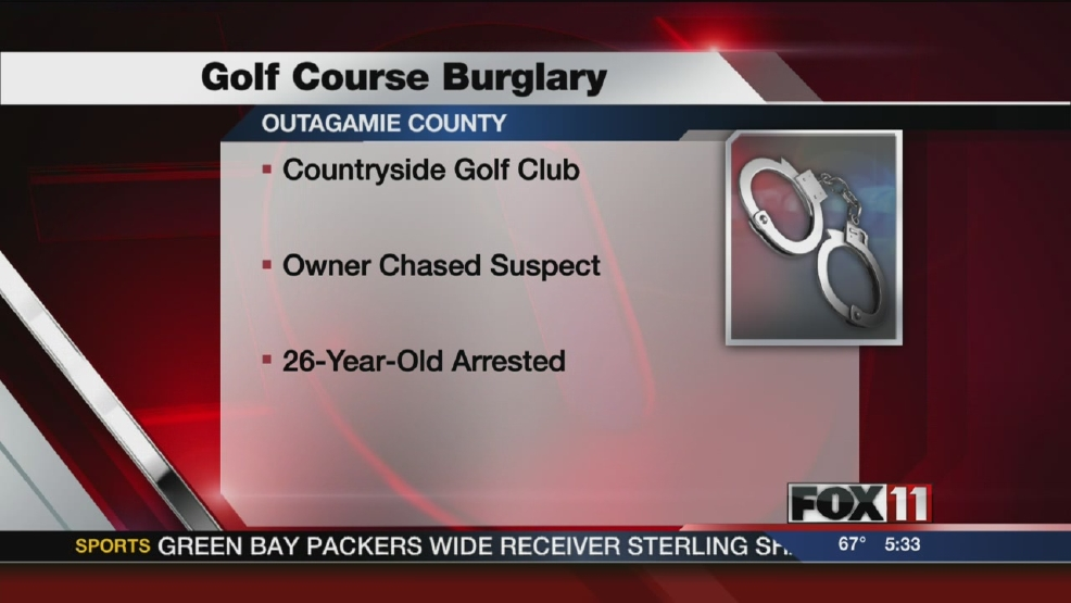 Woman arrested for golf course break-in