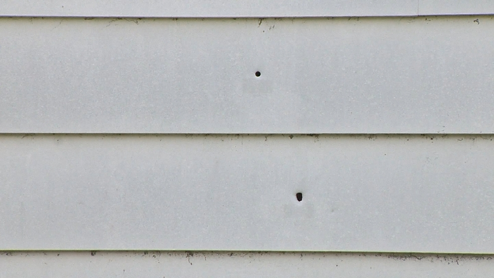 Green Bay Police found nine bullet holes in the side of an apartment unit on Bellevue Street.