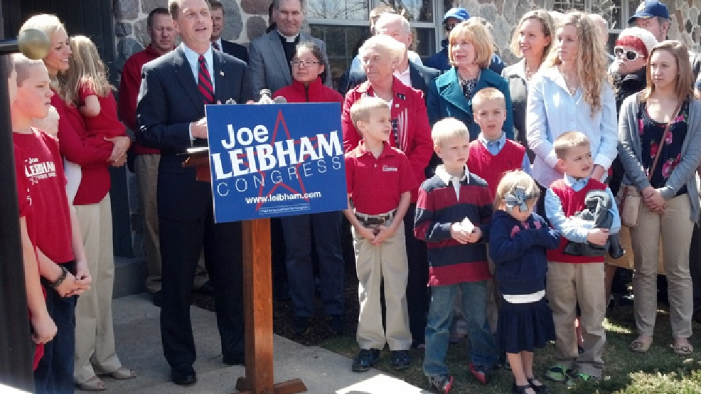 State Sen. Joe Leibham (R-Sheboygan) announces his candidacy for the 6th Congressional District, April 22, 2014. (WLUK/Don Steffens)