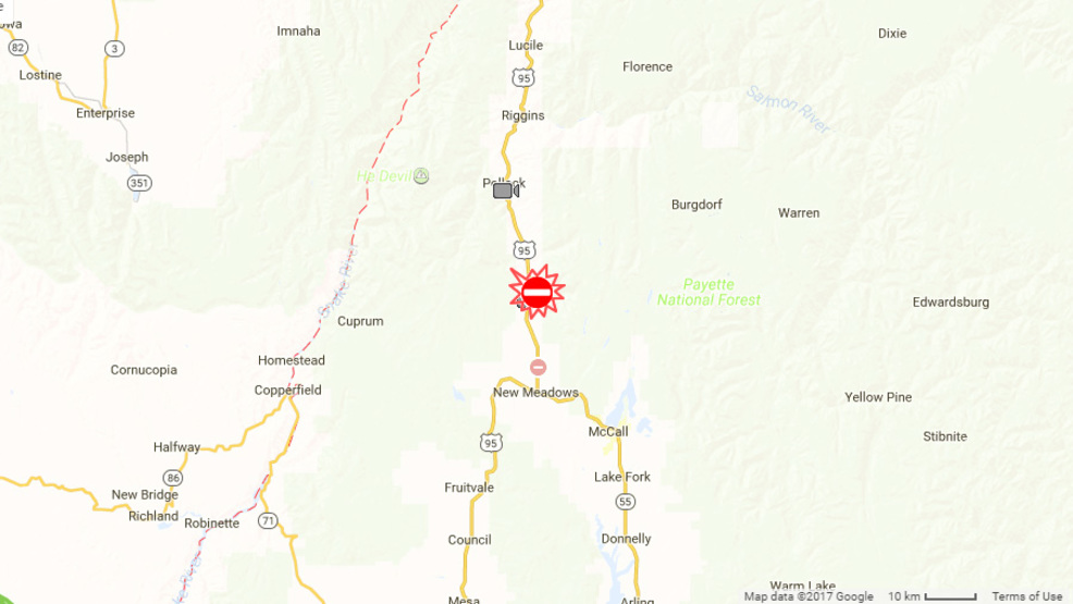Traffic Map 95.Traffic Alert Highway 95 Closed Due To Semi Rollover Crash Near New