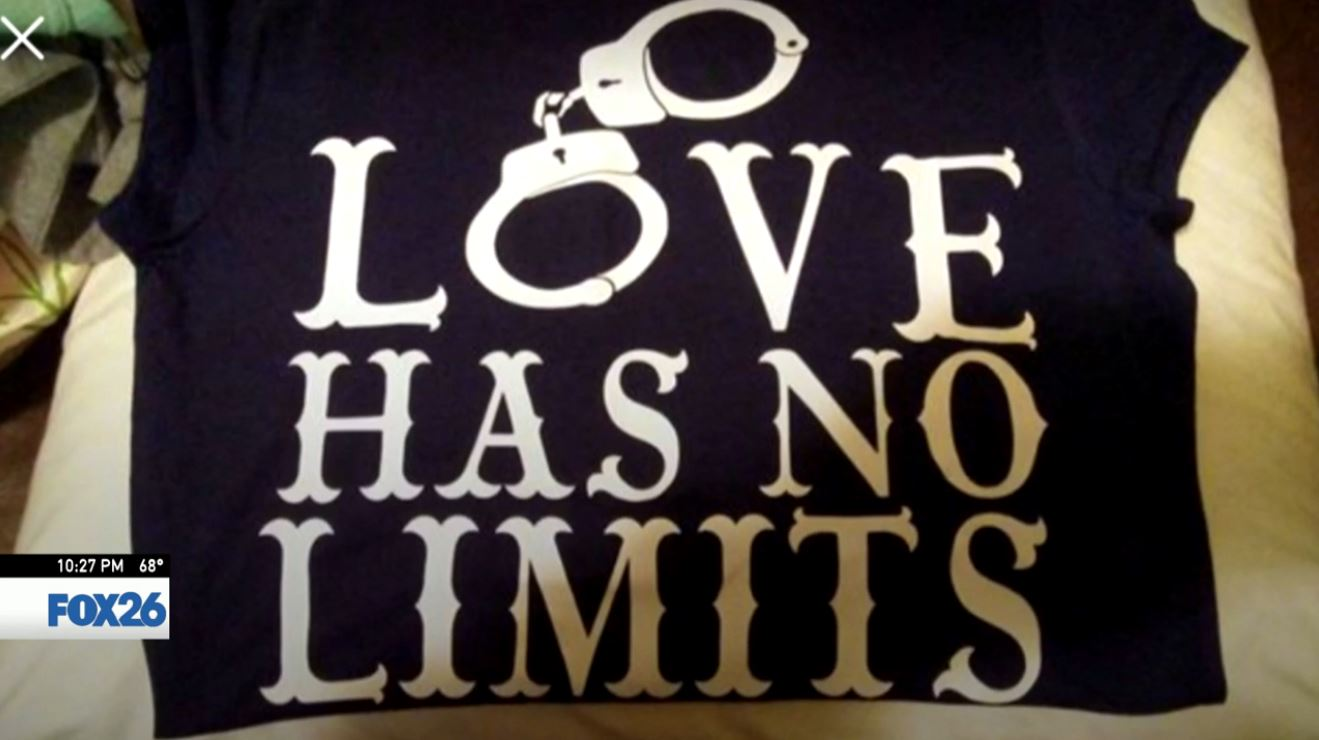 Love in lock-down; Dinuba woman makes jail t-shirts (Photo courtesy Pink Novoa)