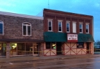 The Copper Shot Bar in downtown New London is damaged by fire, May 20, 2014. (WLUK/Pauleen Le)