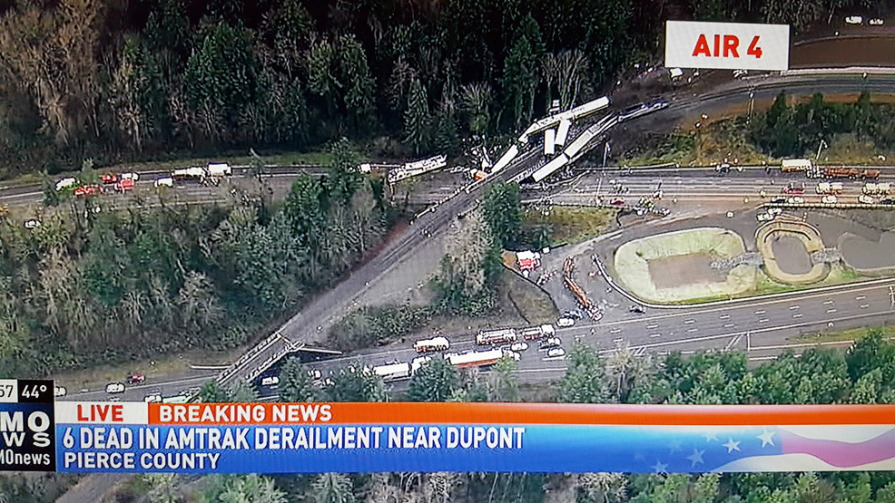 CORRECTION: 3 dead in DuPont WA train derailment, 70+ reported injured
