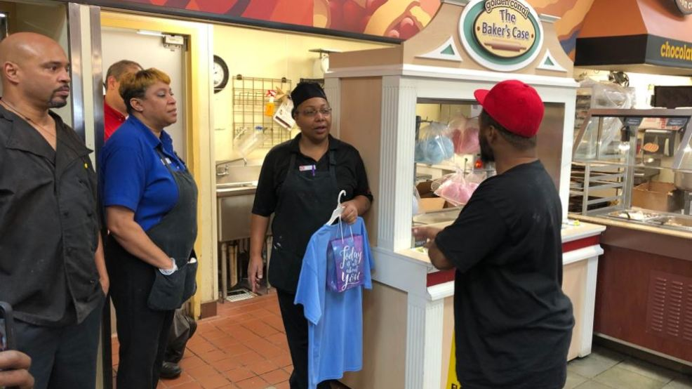 2ccee4d2f8a7 Man surprises Golden Corral employee in Danville for her good deed ...