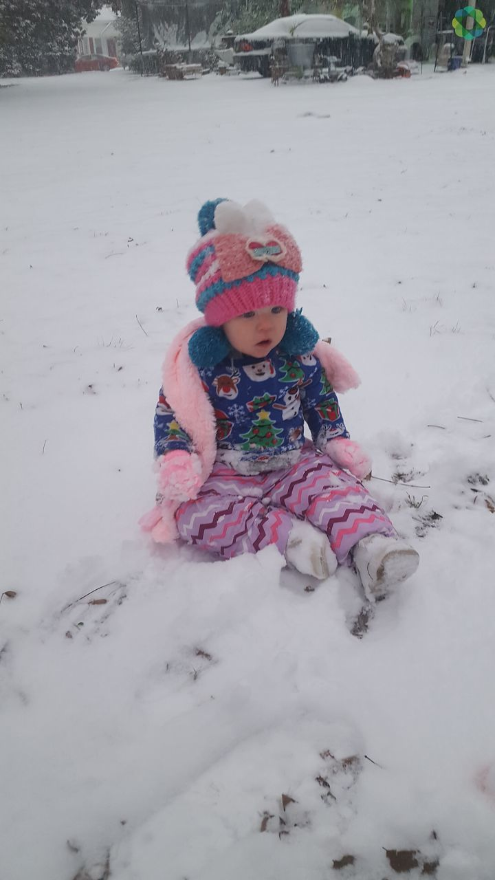 10-month-old Isabella's first snow day in Darlington (Submitted by Shaye Guffey)