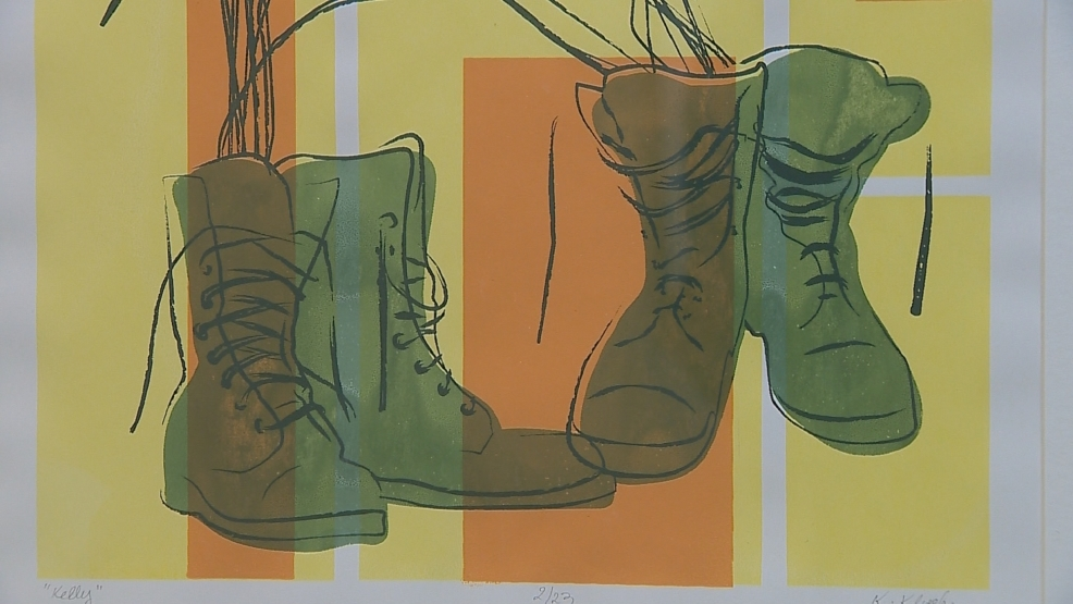 An art exhibit at the Neville Museum features prints that tell female veterans' stories.