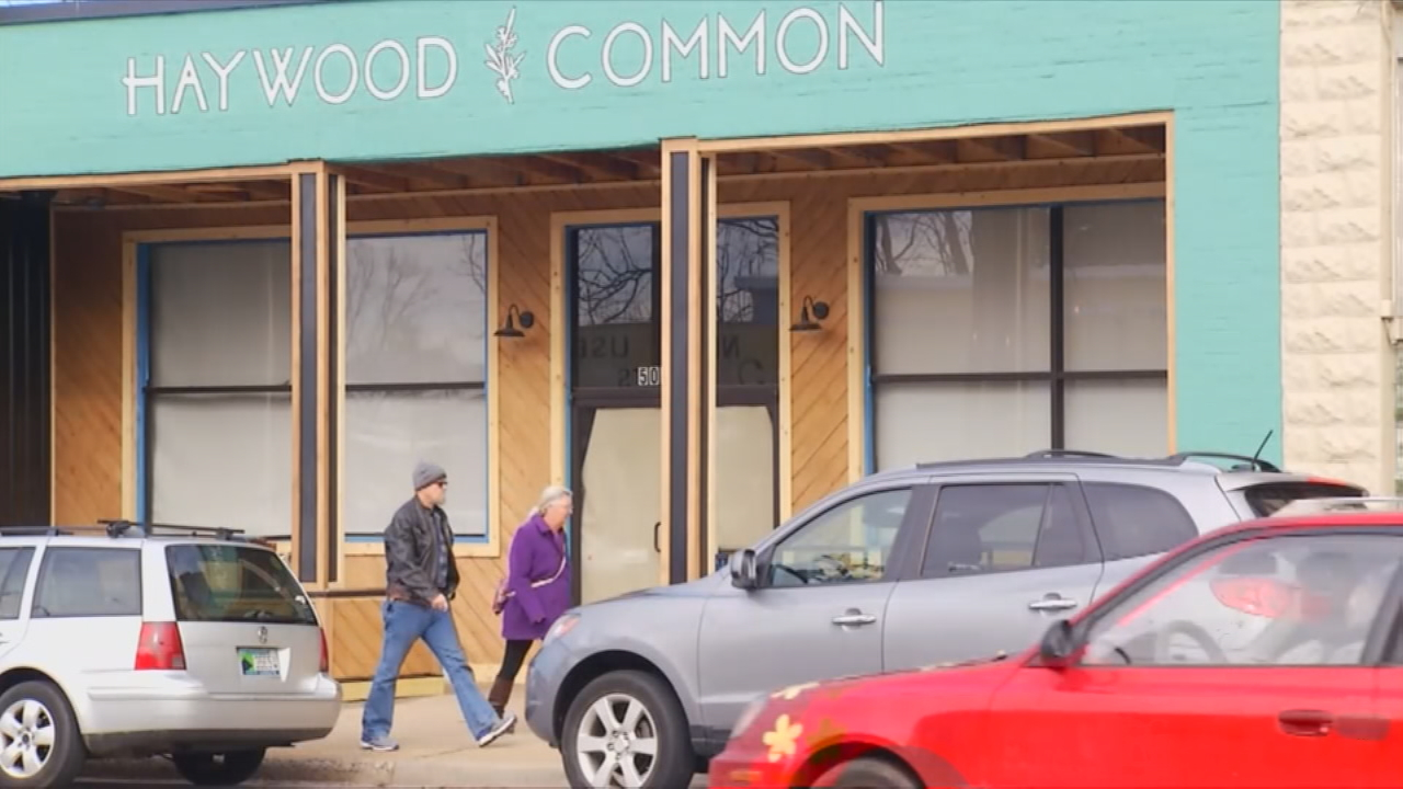 Restaurants on Haywood come and go. But, quickly, leases are taken by entrepreneurs who want to try their hands at running businesses on the main commercial corridor. (Photo credit: WLOS staff)