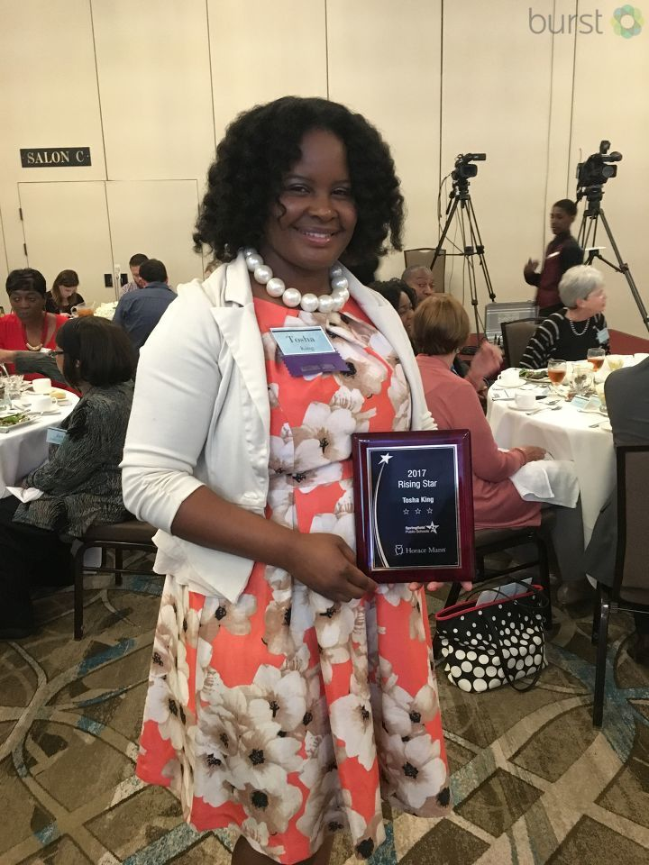 2017 Rising Star award winner Tosha King, a 2nd-grade teacher at Matheny-Withrow Elementary School. (Photojournalist Shawn Shanle)