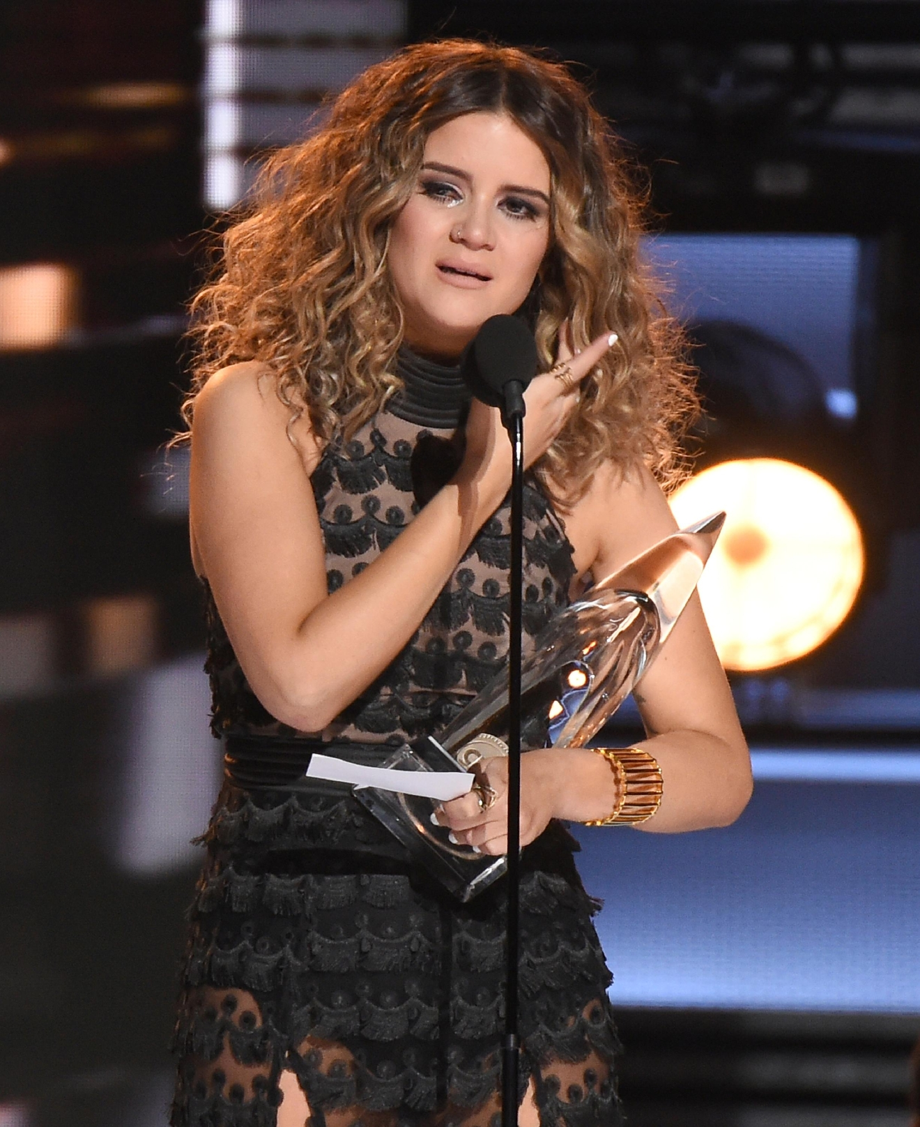 Maren Morris accepts the award for new artist of the year at the 50th ...