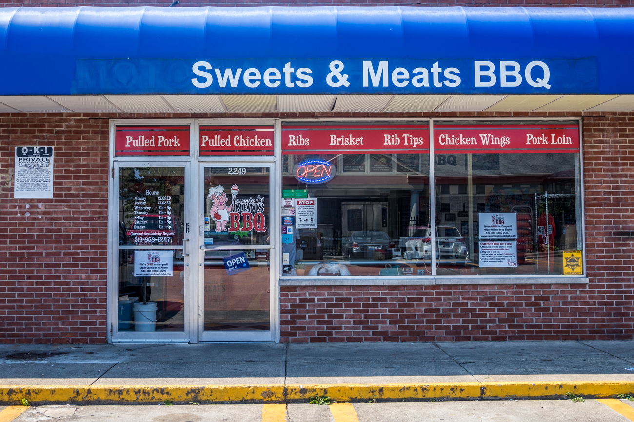PLACE: Sweets and Meats BBQ / ADDRESS: 2249 Beechmont Avenue, Suite B (Mt. Washington) / Not only does Sweats and Meats offer excellent BBQ and sides, they also have fantastic desserts. You can always expect to see something freshly made in the carryout spot, such as banana pudding and a few specialty cakes. Online (SweetsandMeatsBBQ.com), phone, and in-person orders are available. Their food trucks and catering division are open, as well. / Image: Catherine Viox // Published: 8.28.20