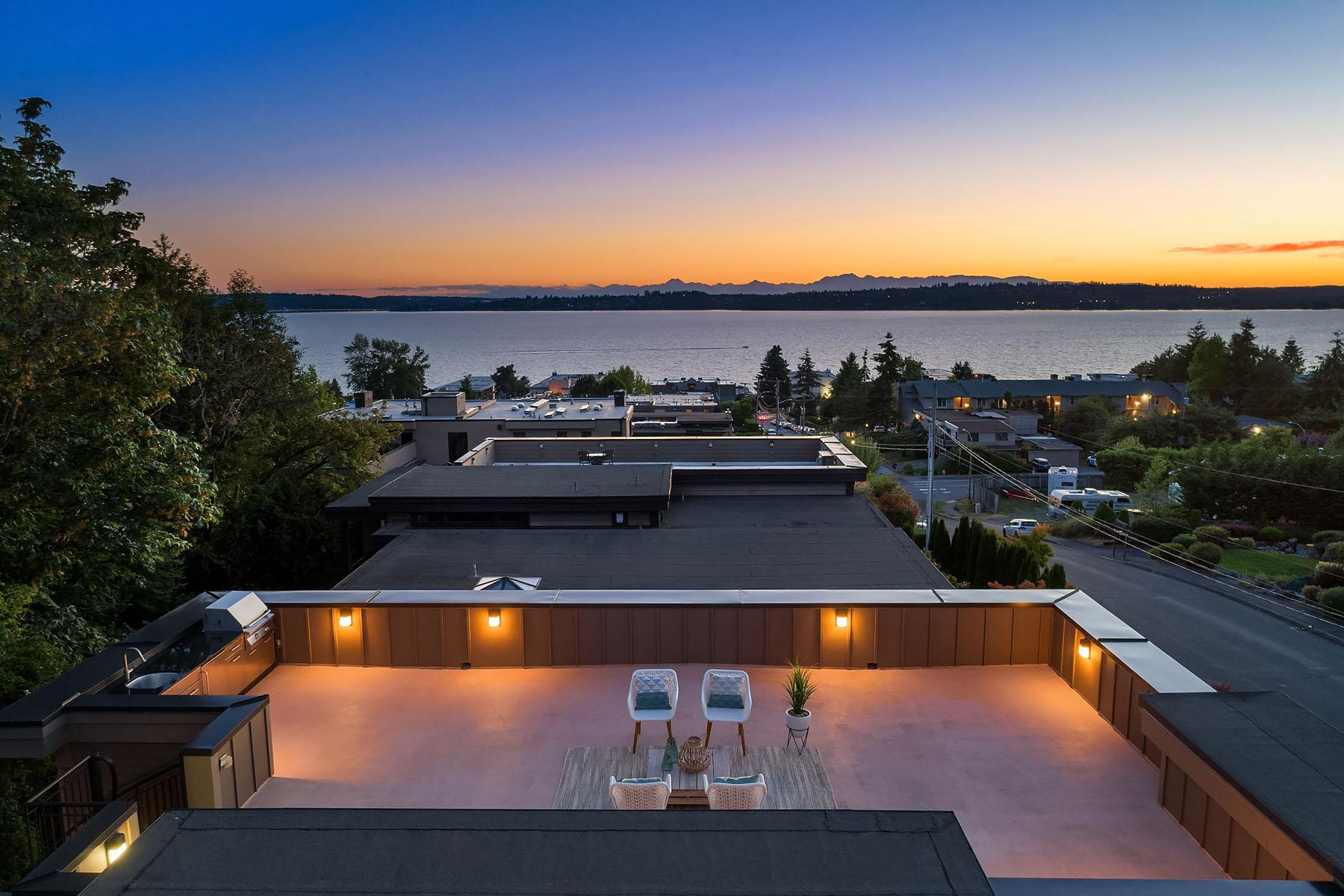 <p>Walking distance to Kirkland's restaurants, shopping and waterfront - this 4 bed/2.75 bath is selling by Windermere's Max Rombakh for $2,299,000. Home's features include a wine cellar, rooftop deck, and probably most notably, the home backs into a lush greenbelt - rare to find in the Houghton neighborhood. MLS #1357060 for more info. (Image: Matthew Gallant, NW Clarity / Windermere)</p>