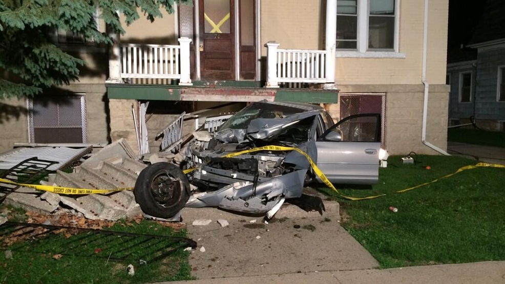 A car hit an apartment building in Fond du Lac on Tuesday, June 11, 2014. (Courtesy: Fond du Lac Fire Department)