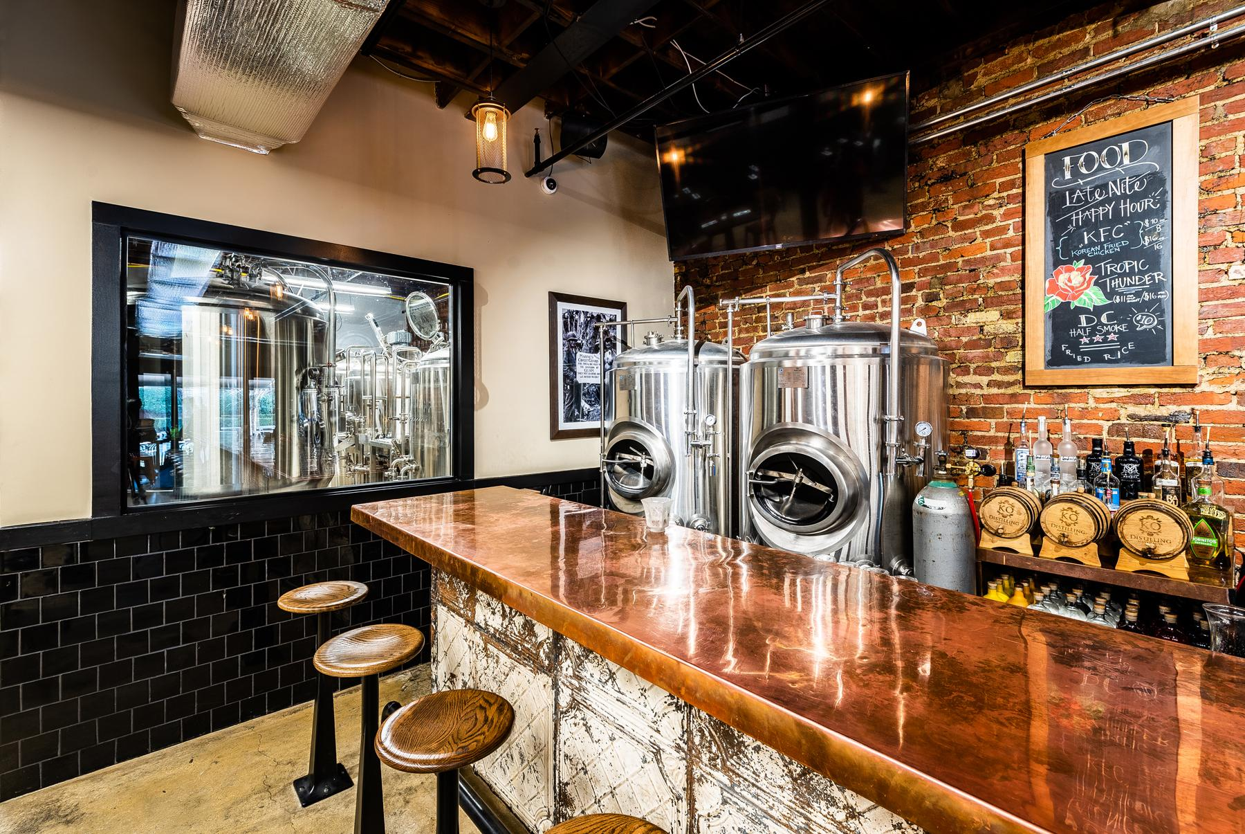 The brewing system at Valor Brewpub. (Image: Courtesy Valor Brewpub)