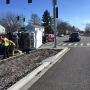 Dial-a-Ride bus flips in crash after car runs red light