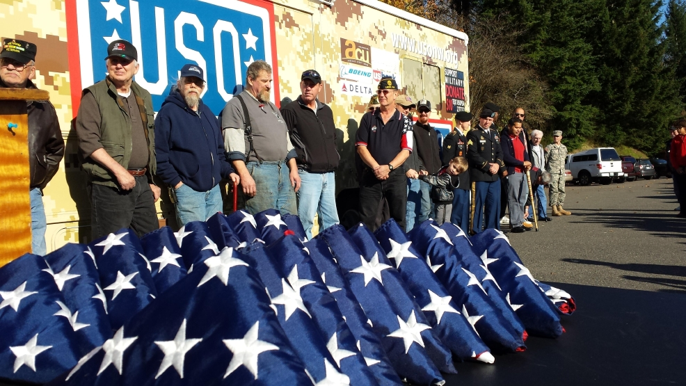 USO Northwest Veterans Day Flag Dedication Ceremony