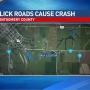 Slick roads cause serious Montgomery County crash