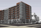 Rendering of Metreau Apartments in downtown Green Bay.