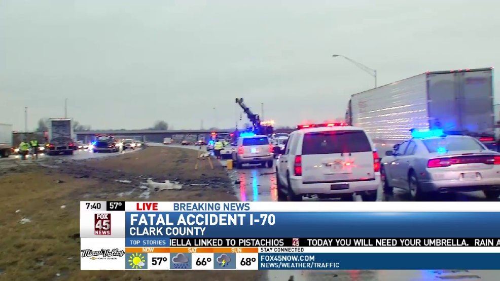 UPDATE: Woman killed in I-70 wrong-way crash in Clark County