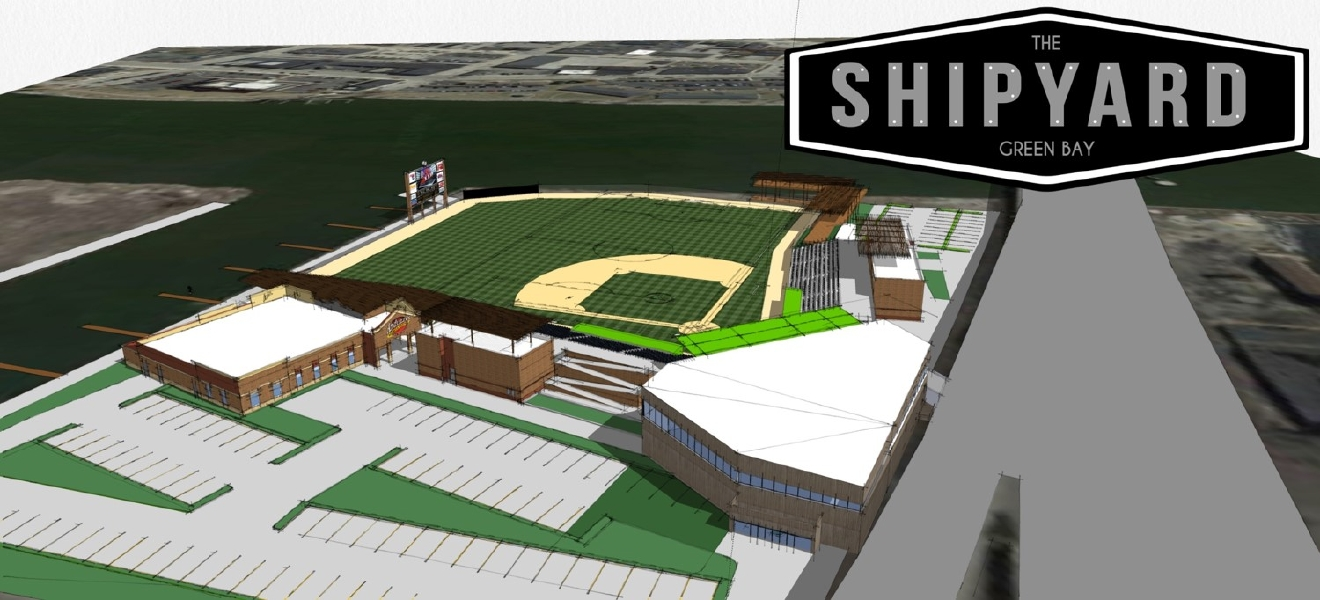"An updated rendering of the proposed outdoor events center for a potential new entertainment district in downtown Green Bay called ""The Shipyard"" (Photo Courtesy: City of Green Bay)"