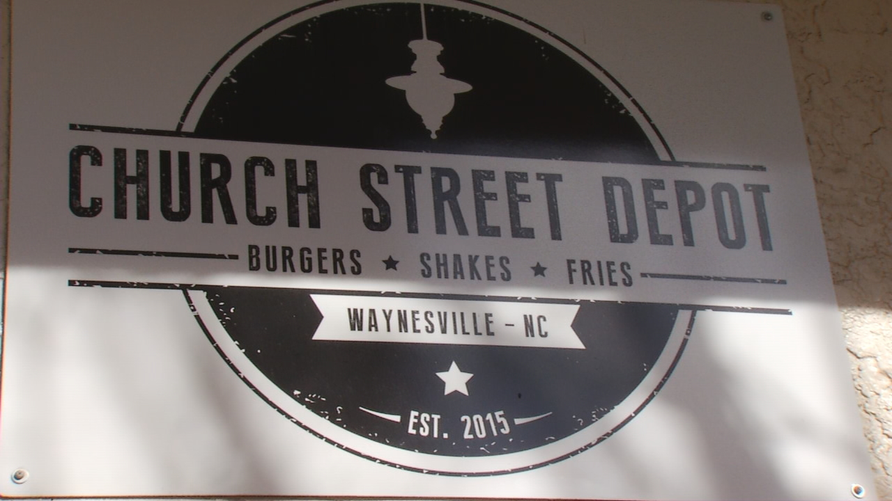 Church Street Depot opened its doors two years ago in a historic building that once housed the Smoky Mountain News. The owners of Church Street Depot are now making history of their own with a simple concept that's taken Waynesville by storm. (Photo credit: WLOS Staff)