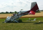 Plane crash in Oshkosh.  (Photo courtesy of James Donker/ReportIt)