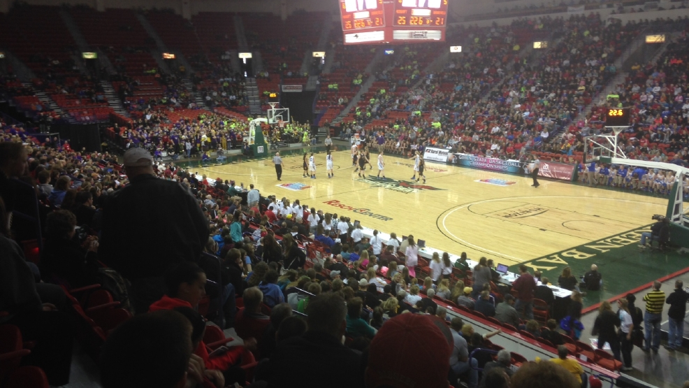 Thousands of people from all across the state come to the Resch Center watch the girls basketball tournament