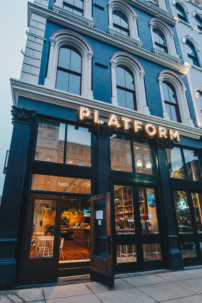 "Platform Beer Co. brings a different kind of tasting room to Cincinnati with its latest establishment, LOCOBA by Platform. LOCOBA, which is an acronym of sorts for ""Local Coffee Barrels,"" opened in February 2019 in Over-the-Rhine. It offers artisan coffee, cocktails, breakfast and café cuisine, and Platform's own beer. LOCOBA brews small batches of beer and spirits in aged barrels, then soaks un-roasted, Ohio-sourced coffee beans in the barrels to infuse their coffee with innovative flavor. ADDRESS: 1201 Main Street (45202) / Image: Catherine Viox // Published: 3.5.19"