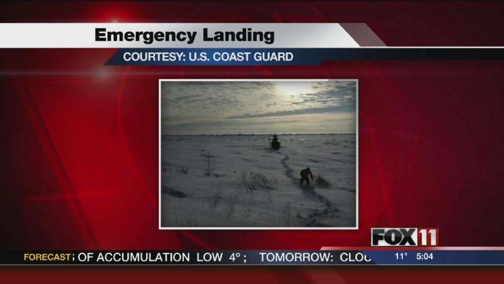 U.S. Coast Guard moving helicopter that made emergency landing