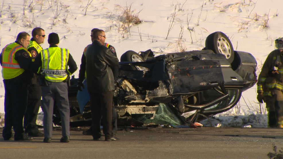 Law enforcement on the scene of a fatal crash in the town of Utica, Wednesday, Feb. 19, 2014. (ReportIt/ Kenton Barber)