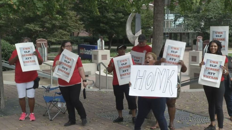 AT&T workers strike in multiple cities across middle Tennessee