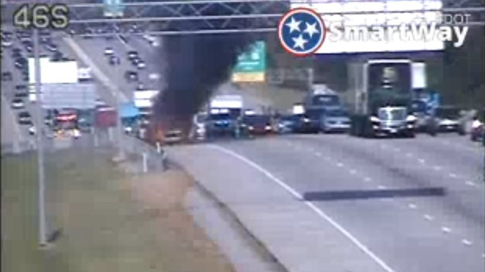 TDOT: Vehicle catches fire on I-75 SB near Volkswagen Drive