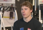 U.S. speed skater Brian Hansen is competing in five races during the 2014 Winter Games.  (WLUK)