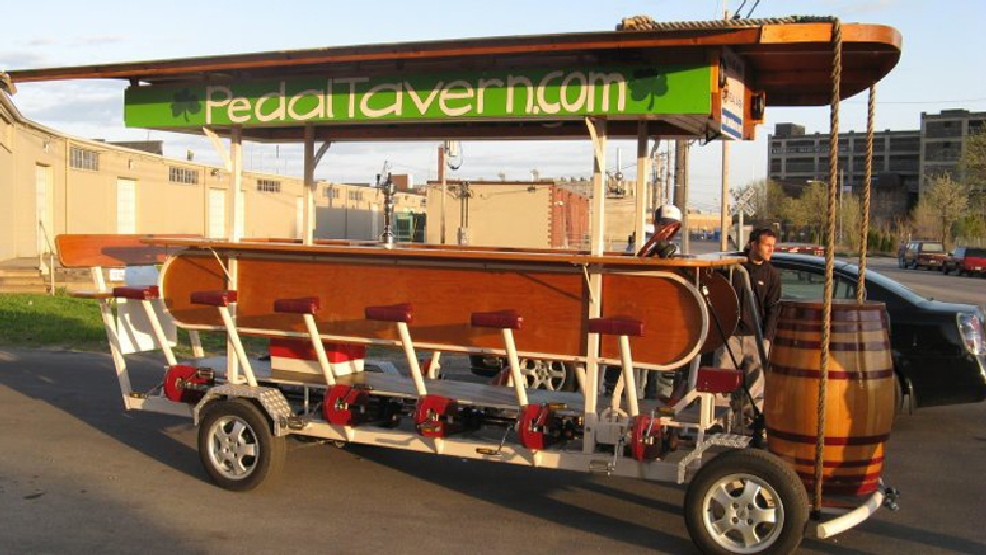 "The Milwaukee Pedal Tavern is an example of a ""pedal pub."" (Courtesy: Milwaukee Pedal Tavern)"