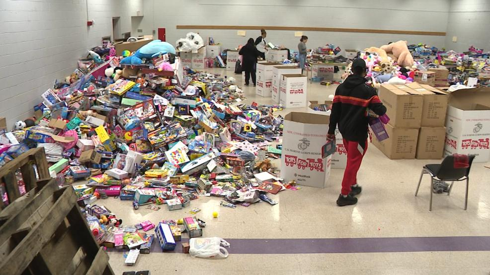 More than 25,000 toys have been collected for Toys for Tots. Nearly half of those came from the ABC 6 single-day event. (WSYX/WTTE)