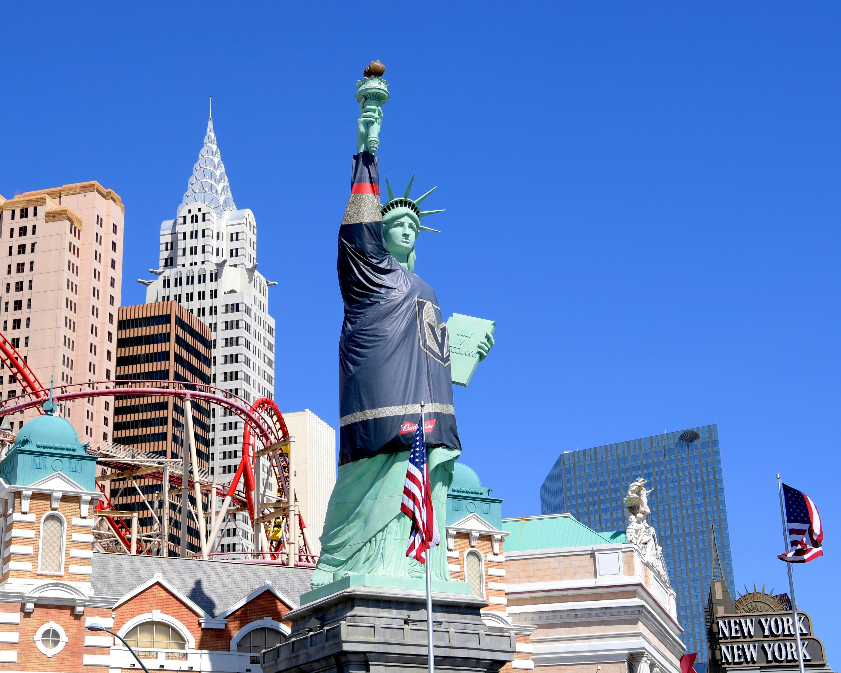 Statue Of Liberty At Nyny Ready For Vegas Golden Knights