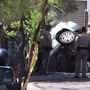 Driver improving after small sedan plows through wall in North Las Vegas