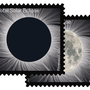 Solar eclipse stamps debut today