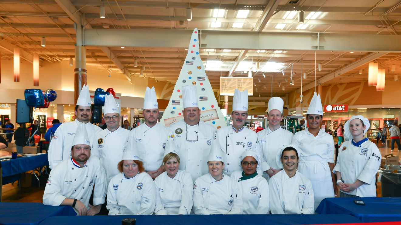 Stratford University's Guinness World Records winning cake team. (Image: Courtesy Stratford University)