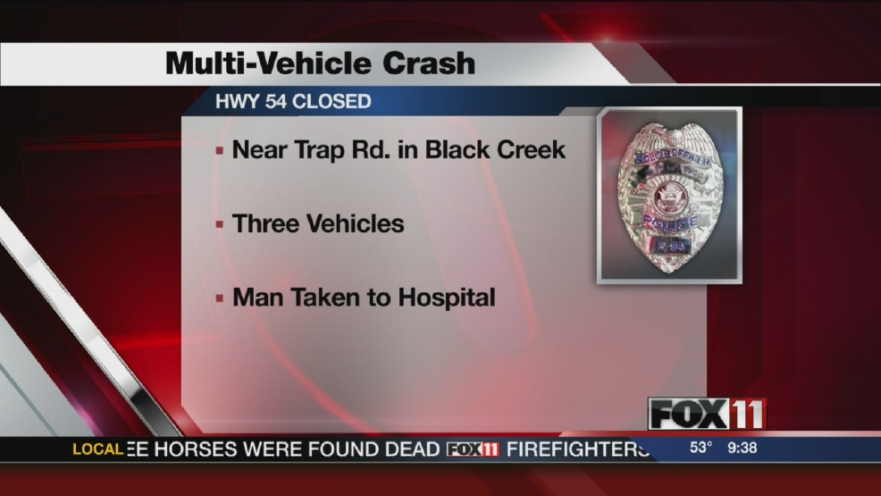 Three-vehicle crash in Black Creek