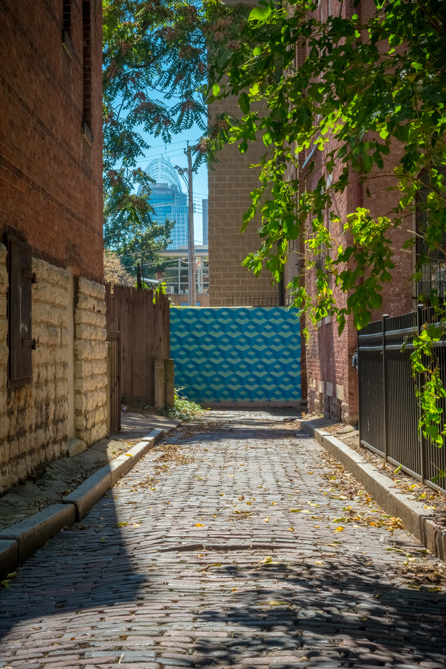NAME: Cogswell Alley / CONNECTS: Hughes Street to Enon Alley / NEIGHBORHOOD: OTR / Image: Phil Armstrong, Cincinnati Refined