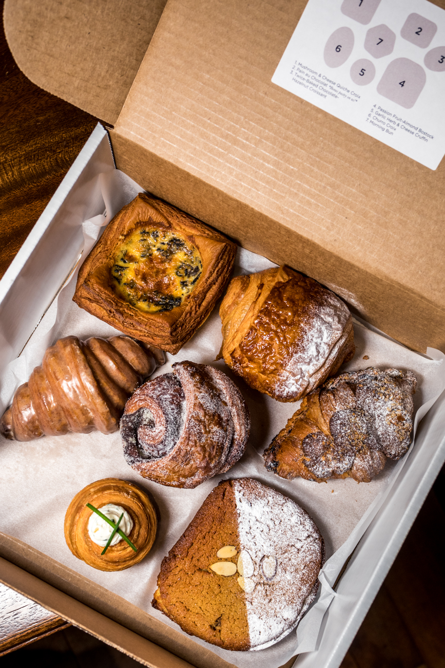 The Ultimate Brunch Pastry Box from the Holiday Market menu / Image: Catherine Viox{ }// Published: 12.23.20