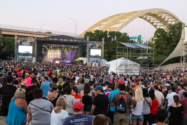 Bunbury Festival is back on the banks of the Ohio River June 1-3, and it's better than ever thanks to headliners Jack White, Blink-182, The Chainsmokers, and Incubus. Make sure not to miss undercards GRiZ, Misterwives, Gang of Youths, and Cincinnati outfit Moonbeau. And, as always, stay hydrated! / Image:  Neil Shumate