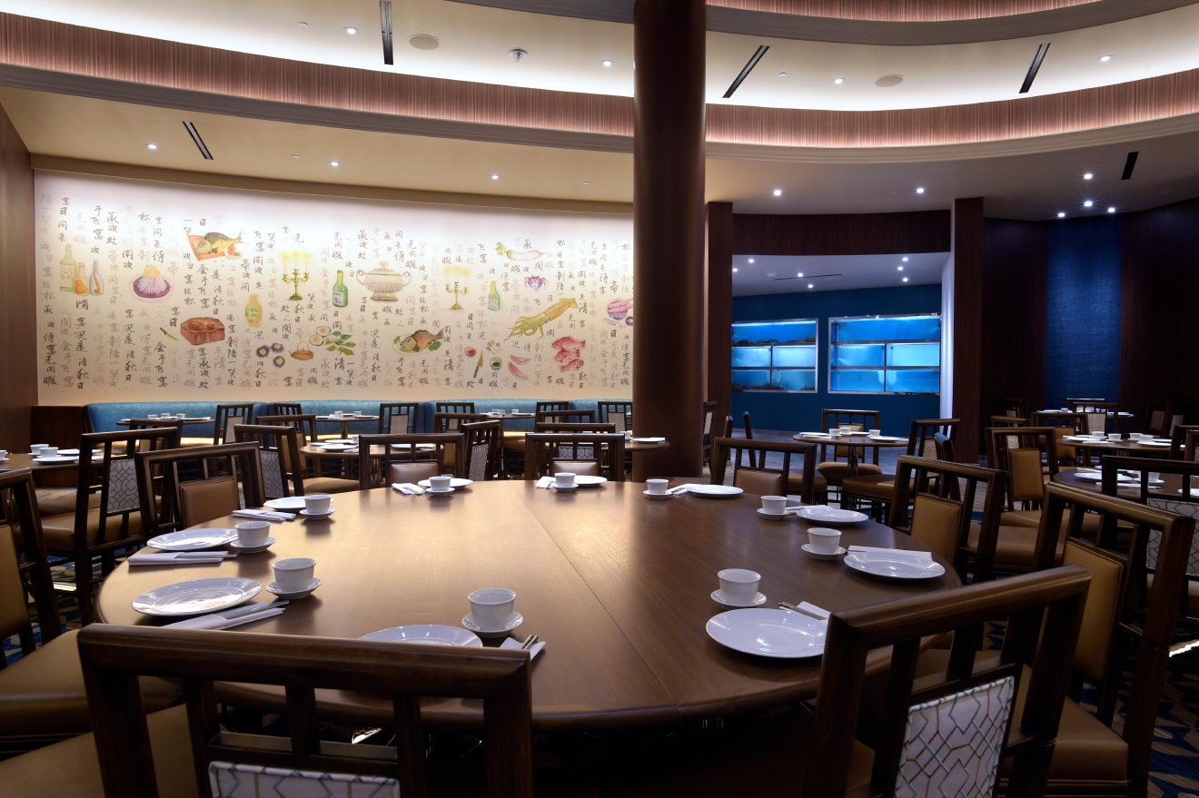 This is a view of the dining room at Pearl Ocean at the Lucky Dragon Tuesday, Nov. 29, 2016, ahead of its grand opening on December 3rd. (Sam Morris/Las Vegas News Bureau)