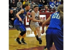 De Pere's Bailey Ryan drives against Notre Dame's Kayla Borseth during their game Thursday.