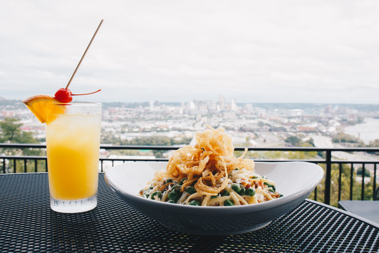 Linguine Carbonara with the Whistle Tip cocktail / Image: Catherine Viox // Published: 10.17.18